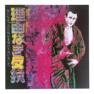 """Andy Warhol Estate Rare Vintage 1990 Collector's Pop Art Lithograph Print """" Rebel Without a Cause - James Dean """" 1985 For Sale"""