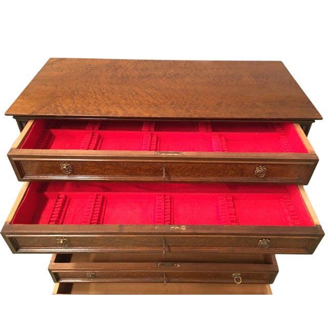 Gold 20th Directoire-Style Chest of Seven Drawers With Bronze Pulls, France For Sale - Image 8 of 11