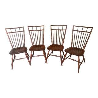 1970s Mid-Century Modern Habersham Plantation Side Chairs - Set of 4 For Sale