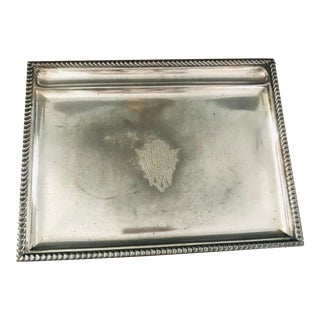 Antique Silverplate Writing Tray For Sale