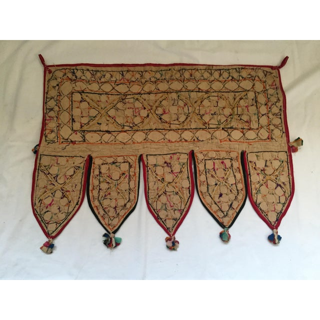 Indian Embroidered Mirror Valance For Sale - Image 10 of 10