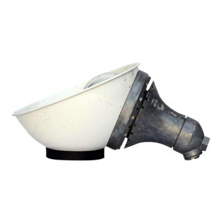 Pair of Explosion Proof Enameled Industrial Lights For Sale