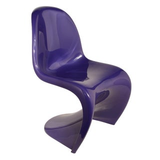 Purple Verner Panton S-Chair Fehlbaum Production For Sale