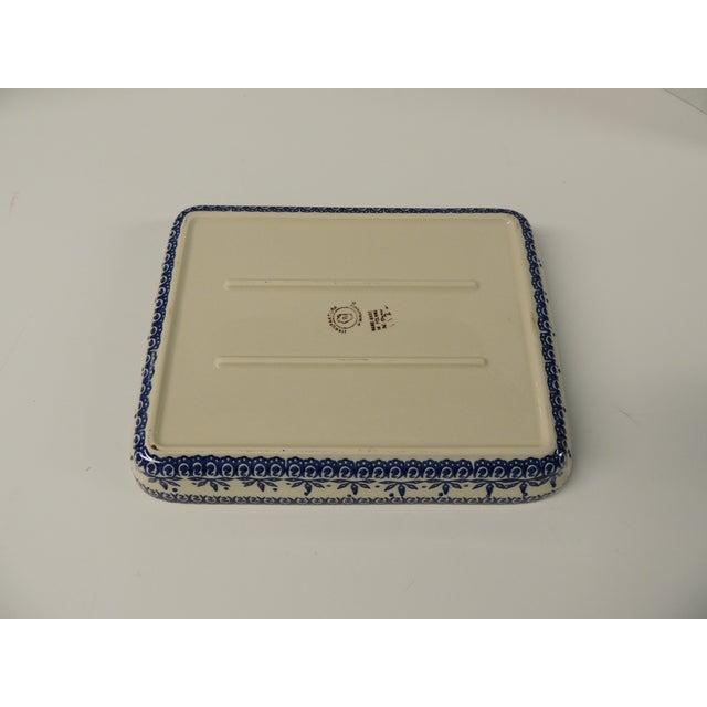Vintage Blue & White Ironstone Serving Platter - Image 4 of 4