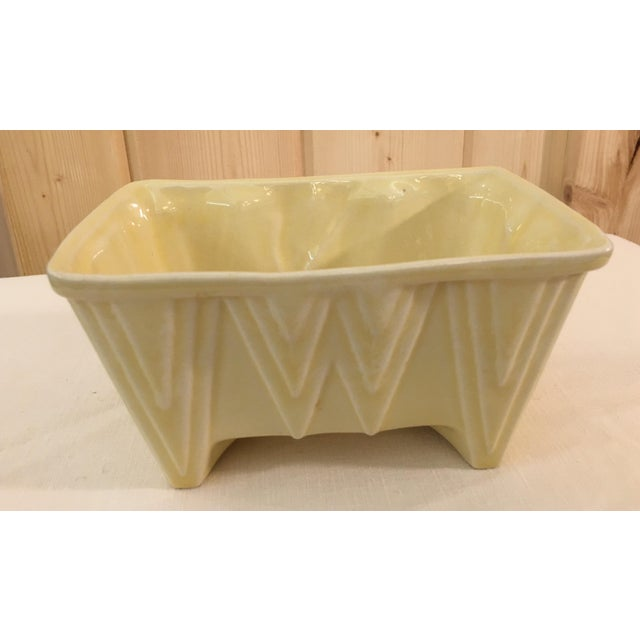 CP Cookson Art Deco Style Yellow Planter - Image 5 of 8