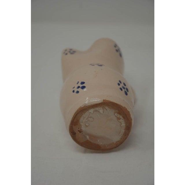 19th Century Vintage Puglia Apulia Italy Ceramic Pitcher For Sale - Image 5 of 6