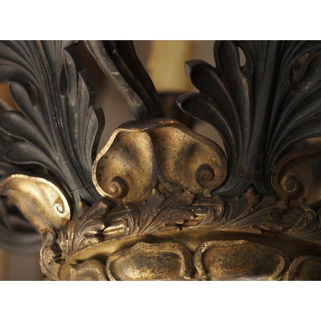 19th Century French Bronze Empire Chandelier - Image 8 of 9