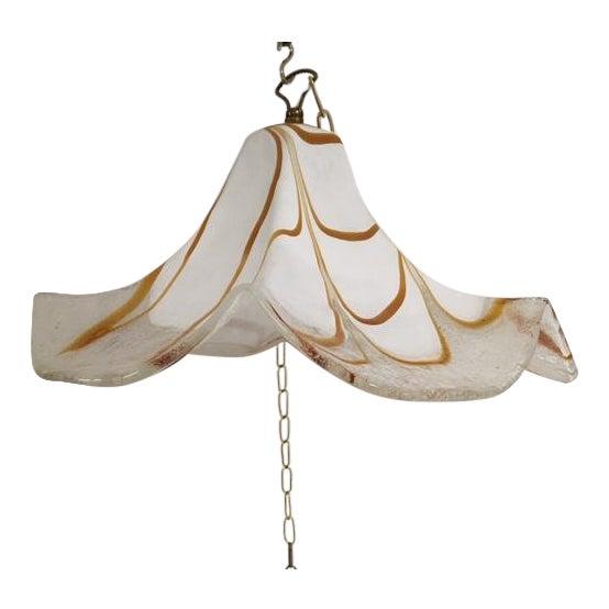 Handkerchief Style Murano Single Pendant Light by Fazzoletto For Sale