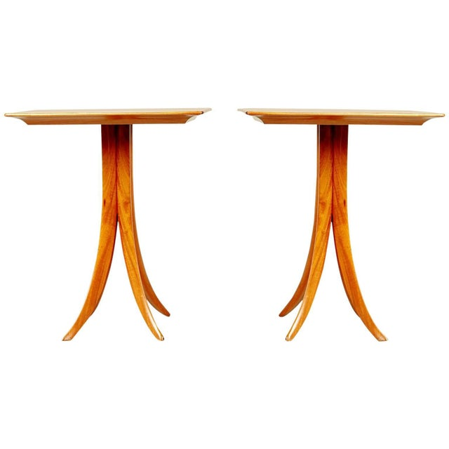 1955 Giuseppe Scapinelli Caviuna Wood Sculptural Side Tables, Brazil - a Pair For Sale - Image 11 of 11