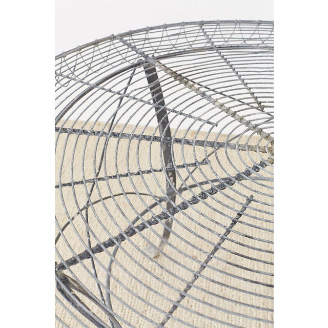 French Wrought Iron and Wire Garden Dining Table For Sale - Image 12 of 13