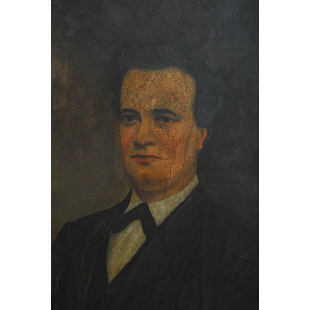 19th Century English Portrait of a Gentleman Oil on Canvas For Sale - Image 5 of 10