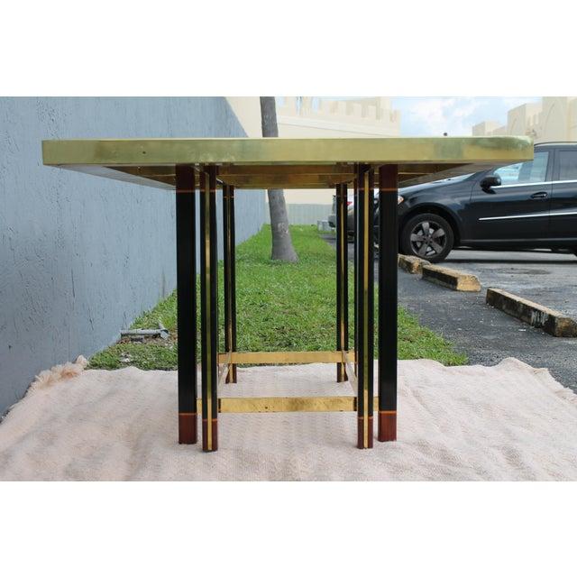 "Paola Barachia ""Roman Deco Spa"" Italian Mastercraft Style Dining Table For Sale - Image 11 of 11"