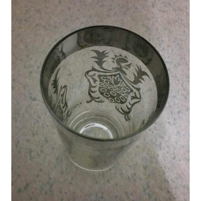 English Traditional Queen's Lusterware Silver Highball Glasses - Set of 8 For Sale - Image 3 of 7