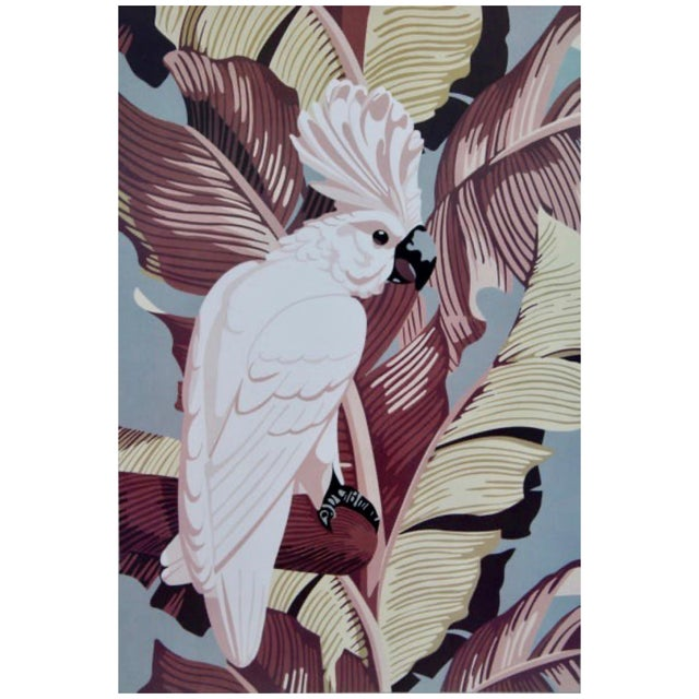 "Vintage Art Gallery Advertisement ""Cockatoo"" Framed Poster For Sale - Image 4 of 11"