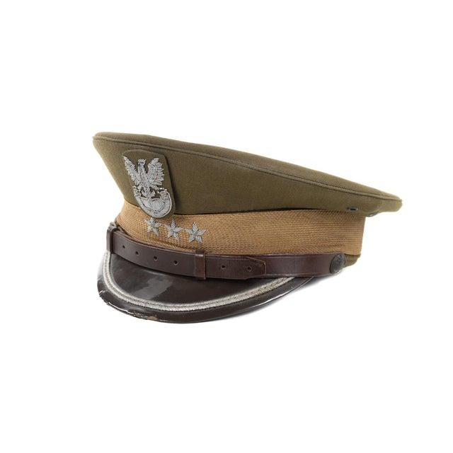 Vintage Polish 3 Stars Military Officer Hat - Image 4 of 9