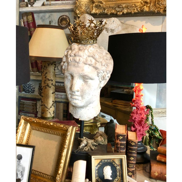 Figurative 1930s Greek Mid-Century Head of the God Hermes Sculpture For Sale - Image 3 of 13
