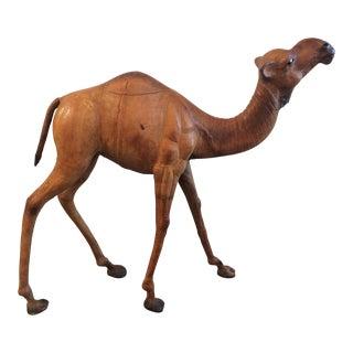 Vintage Leather Camel Statue