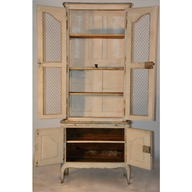 Country 19th Century Country French Wire Front Cupboard For Sale - Image 3 of 11