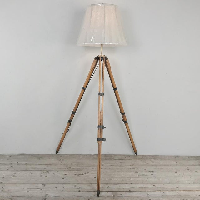 Antique French Surveyors Floor Lamp For Sale - Image 4 of 13
