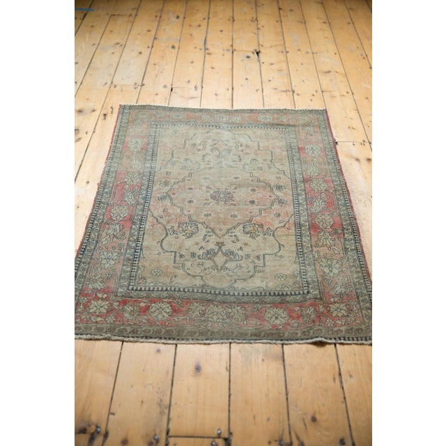 "Old New House Antique Kerman Square Rug - 2'11"" X 4' For Sale - Image 4 of 13"