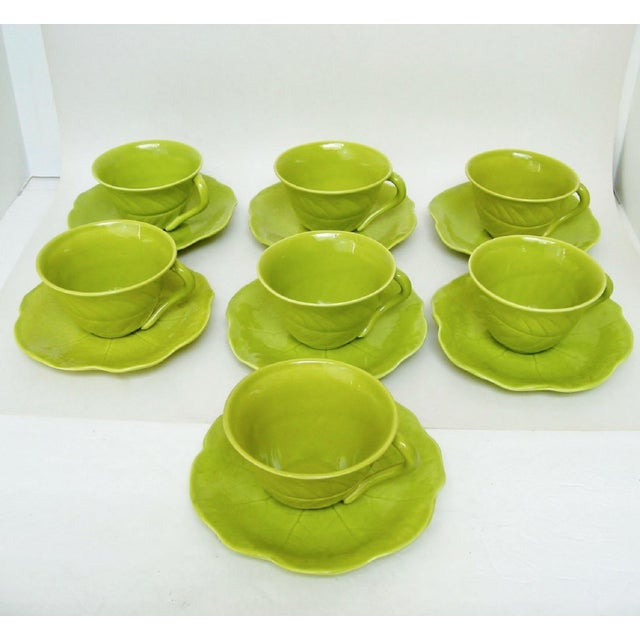 Chartreuse Porcelain Tea Service, 22 Pieces For Sale - Image 5 of 10