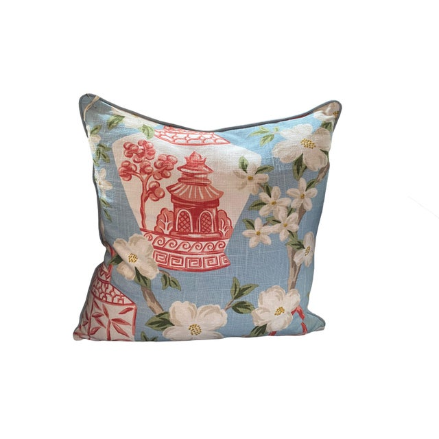 Custom Chinoiserie Pillow For Sale - Image 4 of 4