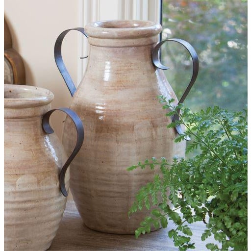 The Brookvale urn masterfully combines handcrafted ceramics and rustic metal. The results are earthy and old-world,...