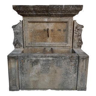 18th Century French Wall Fountain For Sale