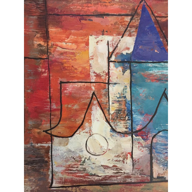 Blue 1940s Ellwood Graham Abstract Landscape Painting For Sale - Image 8 of 10