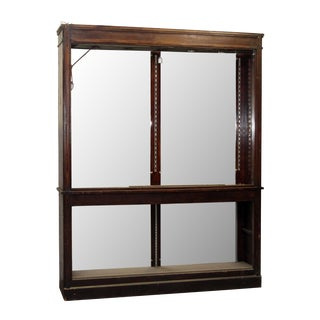 Large Salvaged Drugstore Shelving Unit For Sale