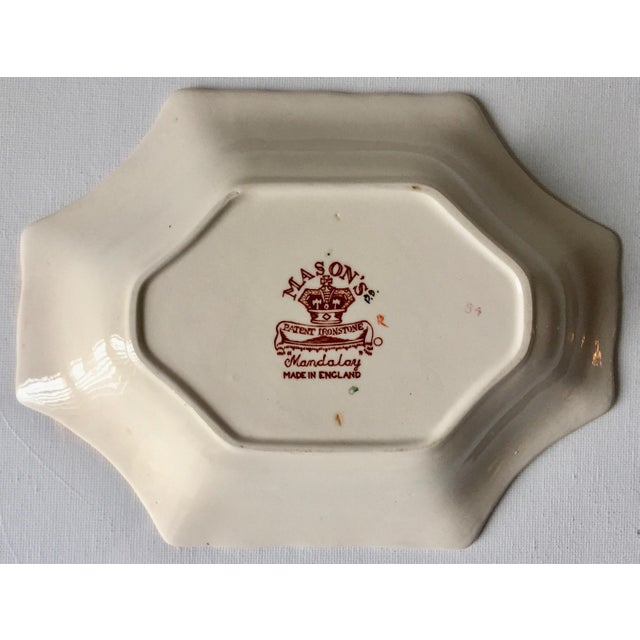 "Mason's Ironstone English Mason's Gaudy Welsh Ironstone Dish-""Mandalay"" For Sale - Image 4 of 10"