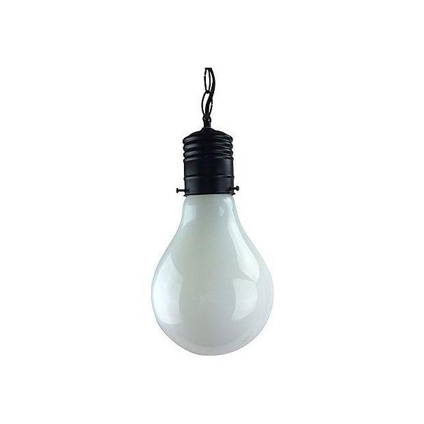 1970s Pop Art Giant Lightbulb Pendant Light For Sale