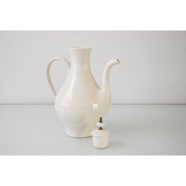 Mid-Century Modern Porcelain Coffee Pot For Sale - Image 4 of 6