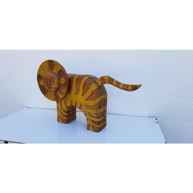 Children's Guido Gambone Style Sun Lion Sculpture For Sale - Image 3 of 11