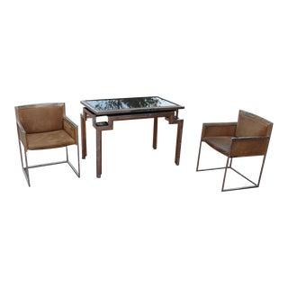Alain Delon for Maison Jansen Backgammon Game Table, Signed