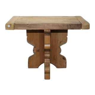 1900s English Pine Console Table For Sale
