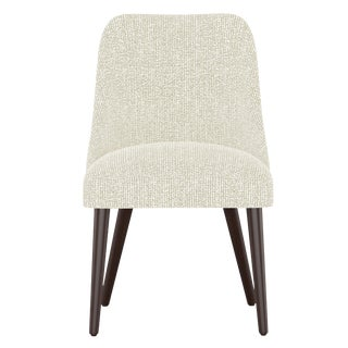 Rounded Back Dining Chair in Solitude Natural For Sale