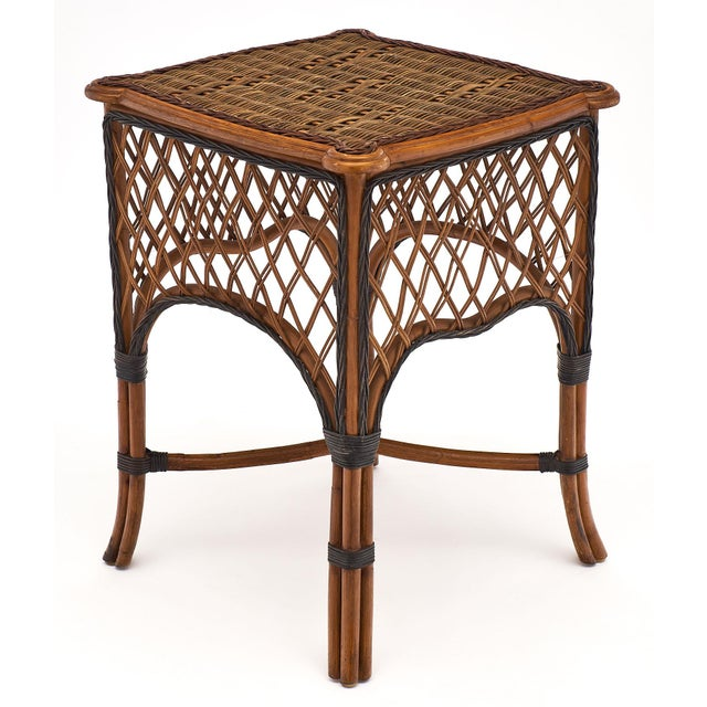 Brown English Wicker Chairs and Table Set For Sale - Image 8 of 10
