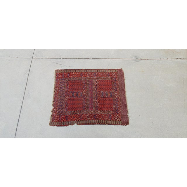 "Vintage Turkoman Tekke Rug-3'11'x5"" For Sale - Image 4 of 12"