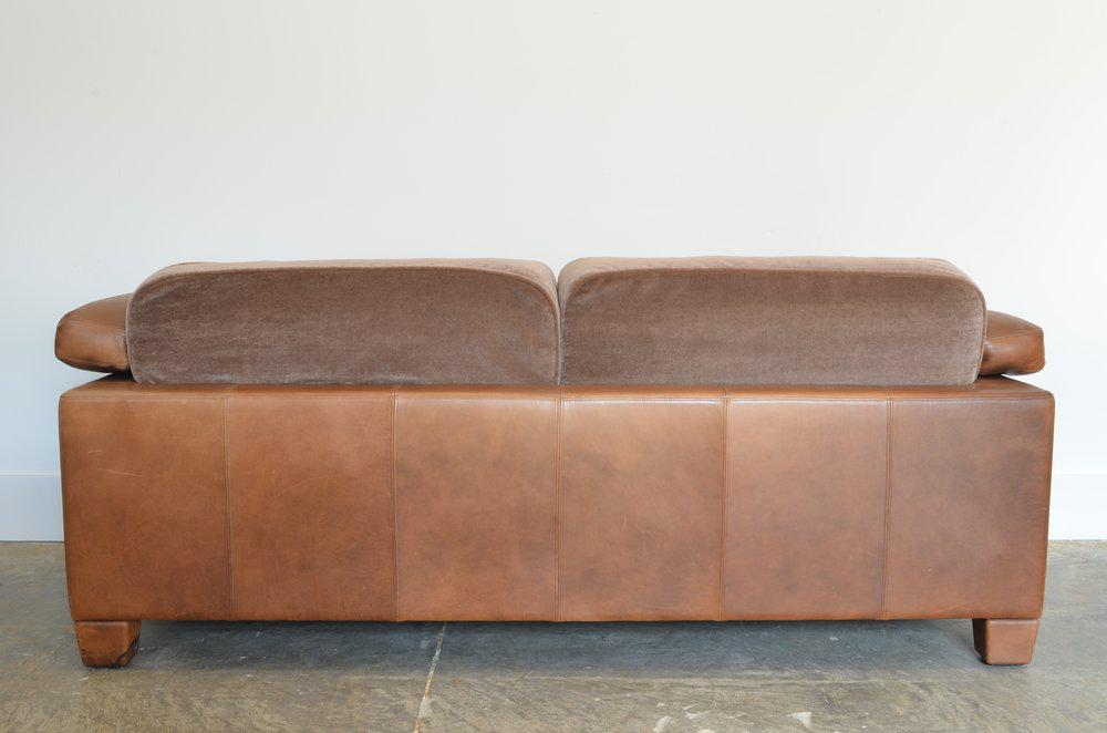 Mid Century Modern Desede Leather Two Seater Sofa For Sale   Image 3 Of
