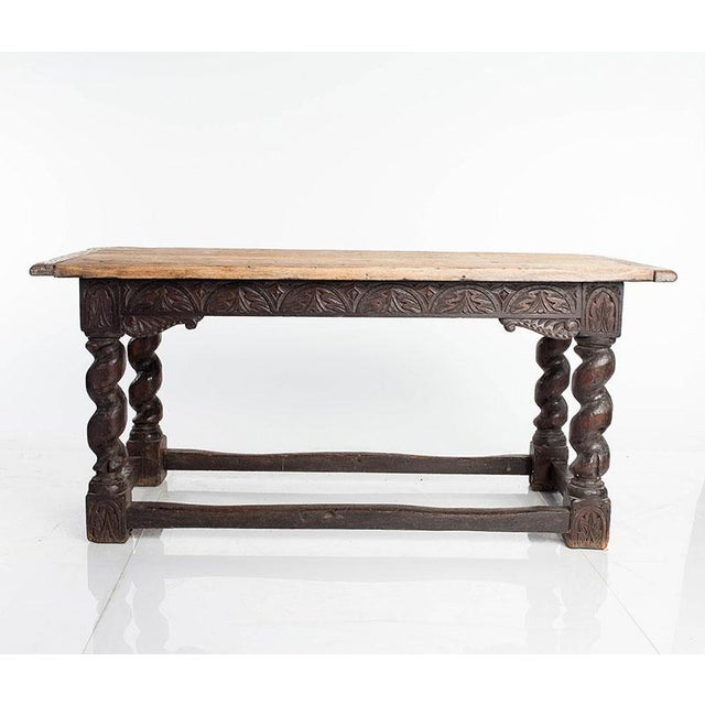 Oak Library Table For Sale - Image 4 of 4