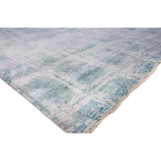 Pasargad's Aqua Silk Collection Rug - 9' x 12' - Image 5 of 6