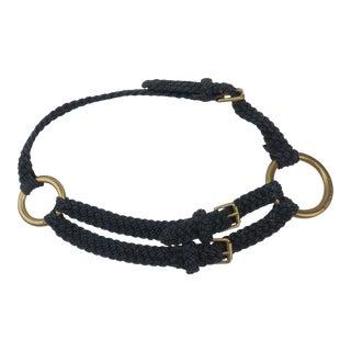 Ralph Lauren Nautical Rope & Brass Ring Belt For Sale