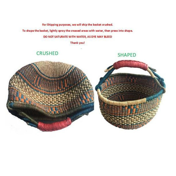 2010s African Bolga Ghana Woven Yikene Basket For Sale - Image 5 of 5
