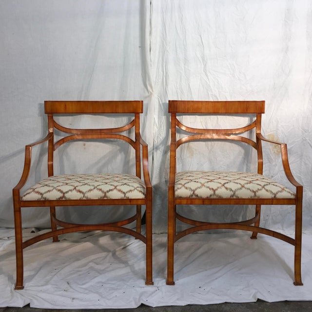 Maitland Smith Tole Armchairs - a Pair - Image 2 of 11