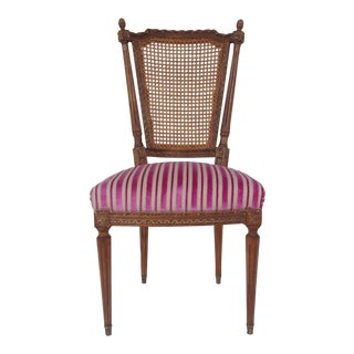 French Louis XVI Hand-Carved Accent Chair