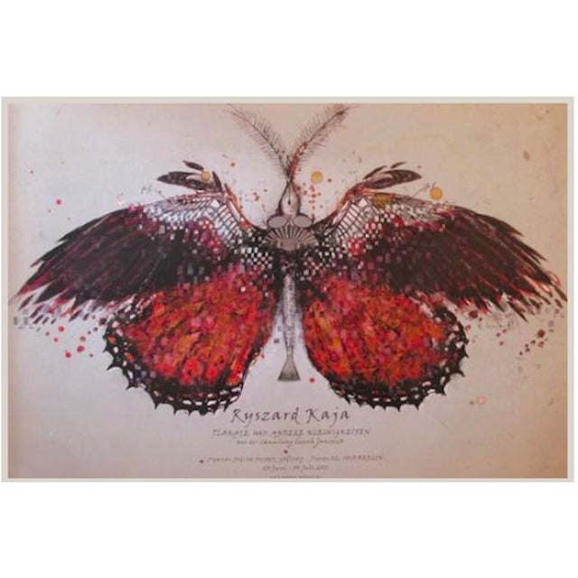 Original Polish Exhibition Poster, Red Butterfly - Image 1 of 2
