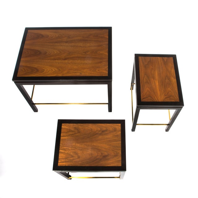 SET OF THREE NESTING TABLES BY EDWARD WORMLEY FOR DUNBAR, CIRCA 1950S - Image 6 of 11