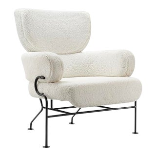Vesta Celina Faux Shearling Lounge Chair For Sale