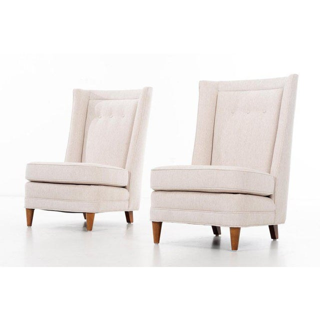1950s Paul Laszlo High-Back Lounge Chairs For Sale - Image 5 of 12